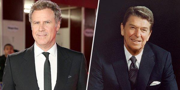 Will Ferrell and Ronald Reagan