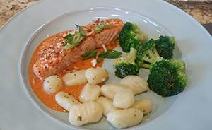Salmon and Gnocchi